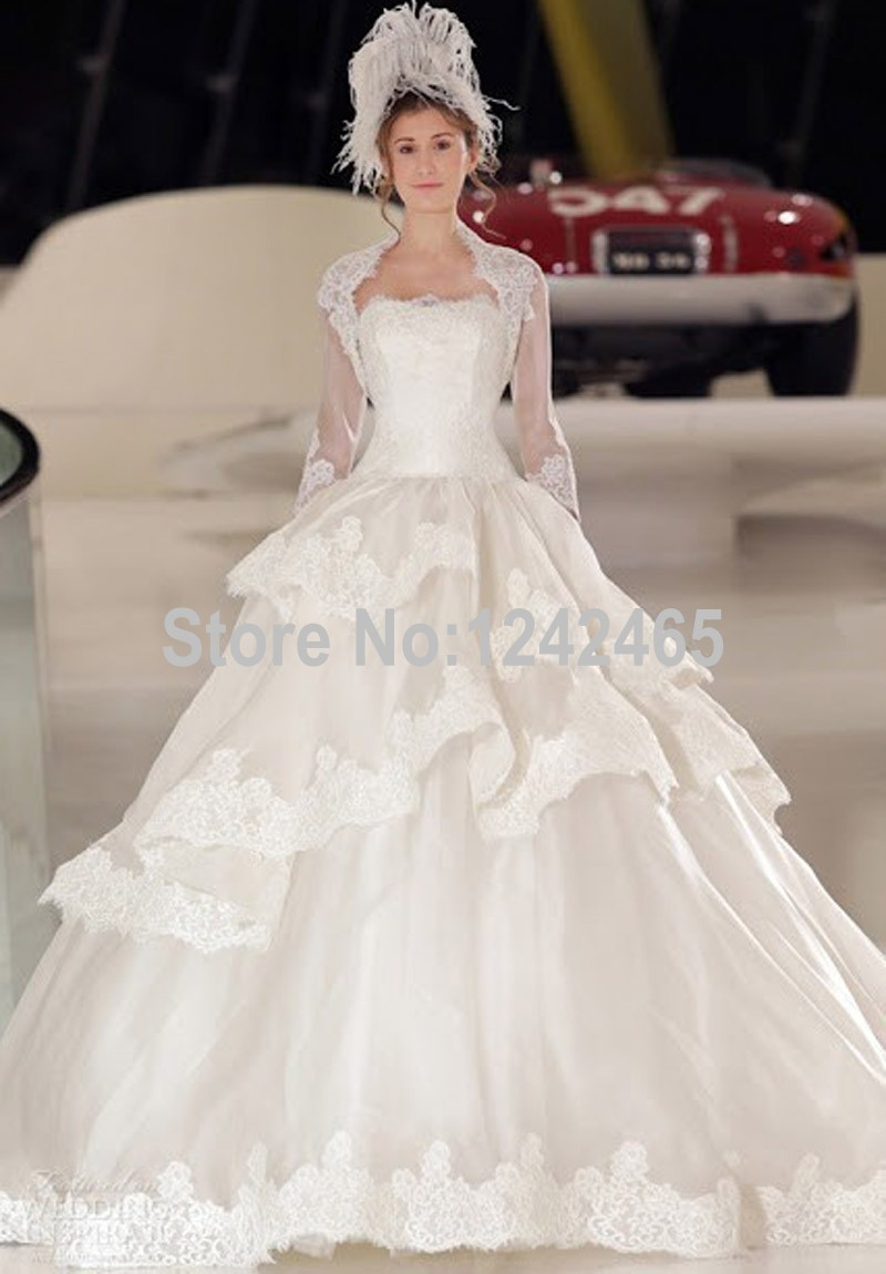 Popular Wedding Dresses with Long Trains Aplique-Buy Cheap Wedding ...