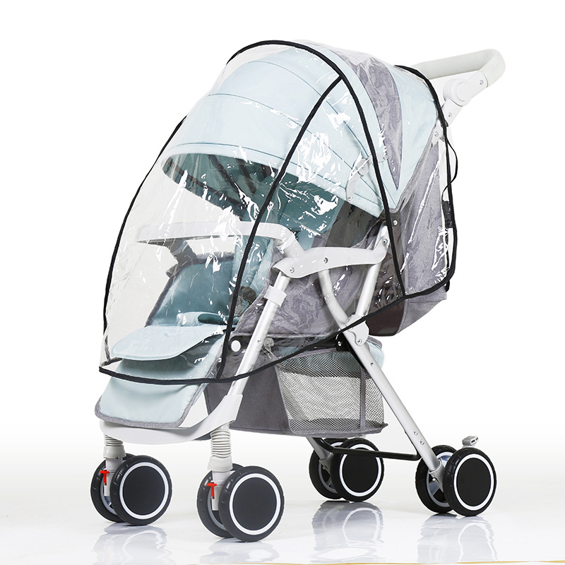 Waterproof Raincoat For Stroller Dust Rain Wind Shield Cover Universal Size Transparent Ventilation Cover Baby Pram Accessories Activity & Gear