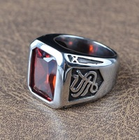 Gem men act the role ofing is tasted Han edition people contracted rings Male and female gothic titanium steel ring