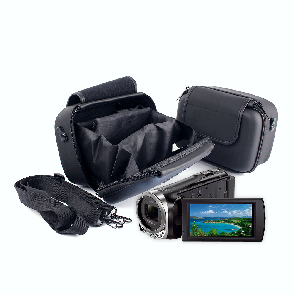 HD DV Videocámara Hombro caso Bolsa Para SONY Handycam HDR CX405 PJ410