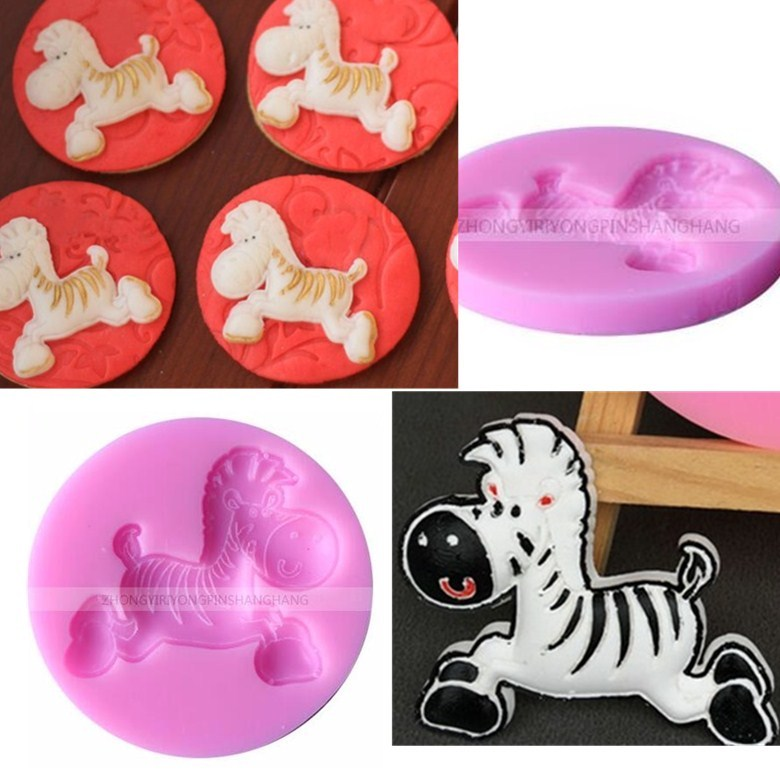 1PCS Horse Shape Silicone molds Handmade Soap Mold, Fondant Cake Decoration Sugar Craft Tools baking tools E027