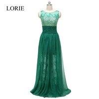ירוק כהה lorie נשף שמלות 2017 vestido de noche לארגו קריסטלים חרוזים שמלות הערב רשמיות תחרות לנשים