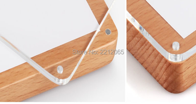 Creative Desktop Beech Wood Acrylic Photo Picture Frames For