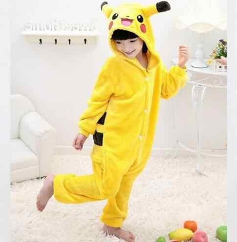 Пикачу Костюм Хеллоуин костюм Дети Косплэй Покемон костюмы желтый Пикачу  пижамы для мальчиков и девочек детская 8372d470cacea