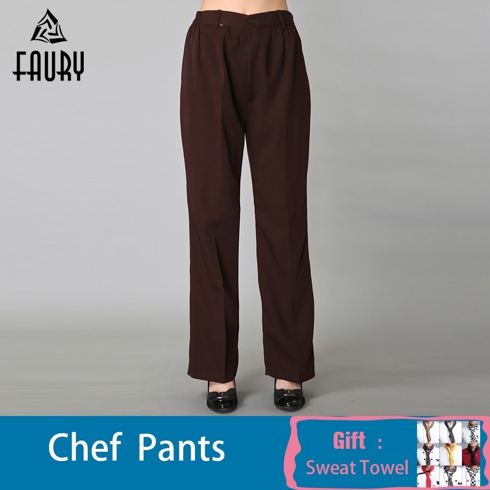 M-6XL New Arrival Hotel Restaurant Kitchen Food Service Bakery Coffee Shop Work Wear Pants Woman Females Waitress Cleaners Pants