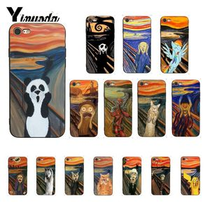 Yinuoda Scream by Munch Funny Arting cat Phone Case Cover for iphone SE 2020 X XS MAX 6 6s 7 7plus 8 8Plus 5 5S SE XR(China)