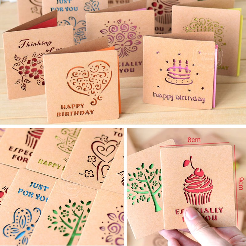 US $1 53 23% OFF 3pcs Folding Greeting Card Happy Birthday Best Wishes  Blessing Greeting Message Card Event Party Wedding Gift Cards-in Cards &