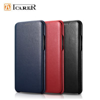 S9 Case For Samsung S9 Plus Luxury Genuine Leather Flip Phone Case For Samsung S9 Plus Full Edge Closed Flip Leather Cover
