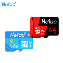 Memory Card Netac TF 64GB 32GB 16GB Micro SD Card 128GB High Speed on 3.0 MCR Class10 U3/U1 Flash Microsd Card for Phone