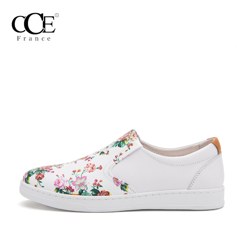 Chinois Top White 5096 En De 2017 Chaussures Mode Femmes Cuir Appartements Vache Fleurs Mocassins Occasionnels Véritable Style Qualité Cce BS5qwg
