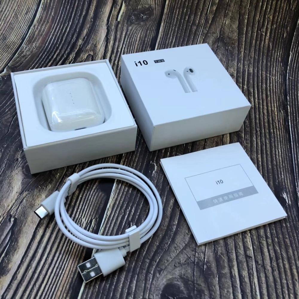 I10 TWS Bluetooth 5.0 Écouteurs Écouteurs Mini Stéréo Sport Musique Tactile Contrôle Casques Avec Boîte De Charge I9S Mis À Jour Pour Iphone