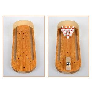Image 5 - มินิโบว์ลิ่งเด็ก Interactive เกมเดสก์ท็อปโต๊ะไม้เด็กเกมของเล่น Rolling Ball เกมชั้นสำหรับเด็กของขวัญ