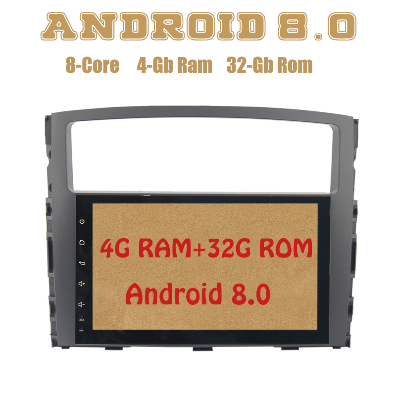 Android 8.0 car radio gps for mitsubishi pajero V97 V93 with Octa core PX5 4G RAM 32G ROM wifi 4g usb Auto Stereo Multimed black plastic shell car reserve camera auto wire 5 car rear camera adapt for mitsubishi pajero zinger l200 v3 v93 v5 v6 v8 v97