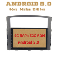 Android 8.0 car radio gps for mitsubishi pajero V97 V93 with Octa core PX5 4G RAM 32G ROM wifi 4g usb Auto Stereo Multimed
