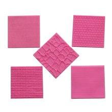 Molde de silicone para textura de malha, textura de casco, molde de fondant, pasta de bolo, biscoitos em relevo, almofada de decoração, ferramenta de renda