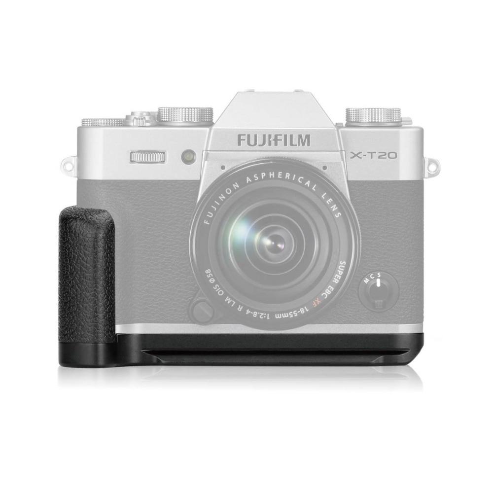 Meike XT20G Aluminum Alloy Hand Grip Quick Release Plate L Bracket for Fujifilm X-T20 X-T10