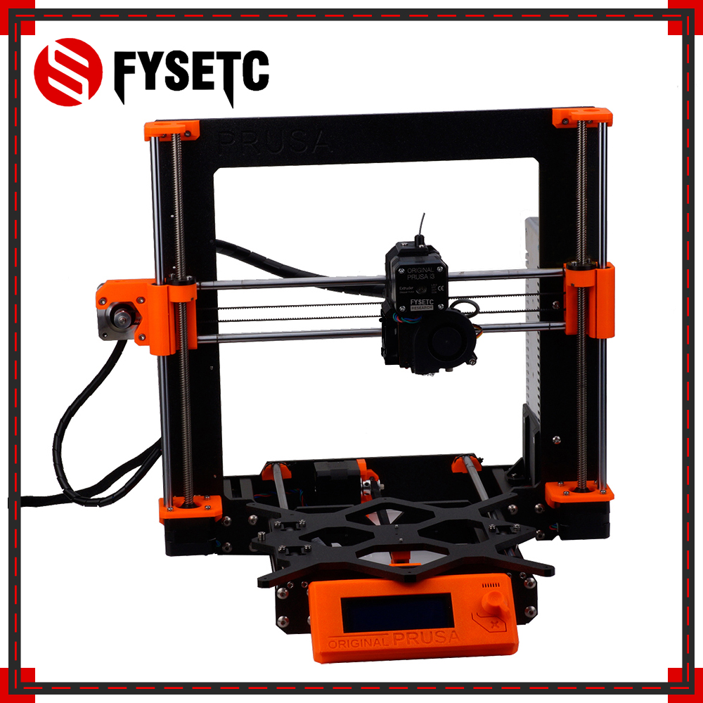 1 Set Complete DIY Clone Prusa i3 MK3 3D Printer Full Kit Alloy Frame Profile Rod Magnetic HeatBed EinsyRambo Board Motors Kit