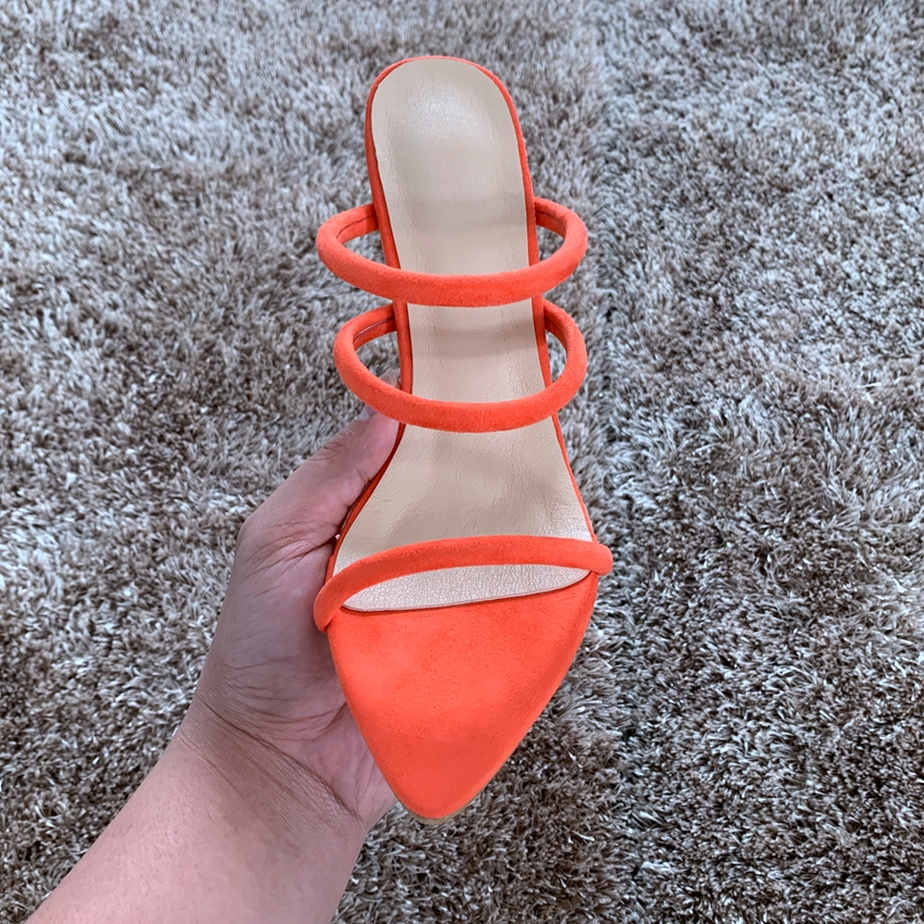 Pour Chaussures Toe Femmes 11 Cm Robe D'été Haute Dame Pompes Printemps rosered Sandai De Femme Talons Orange À Sandales forme florescence Sandai Peep Mince Sandale Plate Sandai ftIwPnqI