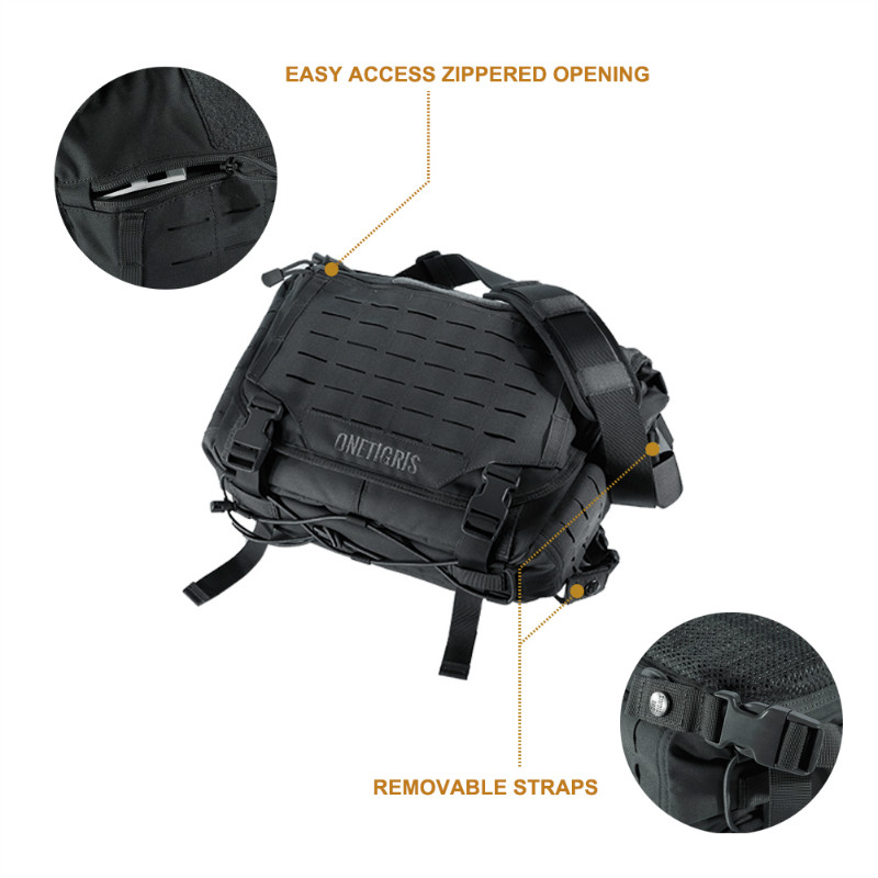 OneTigris HU sac de messager tactique armée militaire sacs à bandoulière pour hommes en plein air Molle pochette d'ordinateur pour la sauvage urbaine - 4