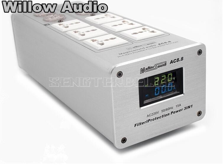 Hochwertige Netzteil Filter Power Purifier Buchse Blitzschutz Mit Spannung Display Für HiFi Audio-in AC/DC Adapter aus Verbraucherelektronik bei AliExpress - 11.11_Doppel-11Tag der Singles 1