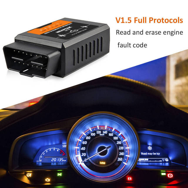 Elm327 V1.5 WIFI OBD2 PIC18F25K80 Chip Code Reader ELM 327 OBDII V1.5 Diagnostic Tool Diesel/petrol ON Android/IOS Car Scanner