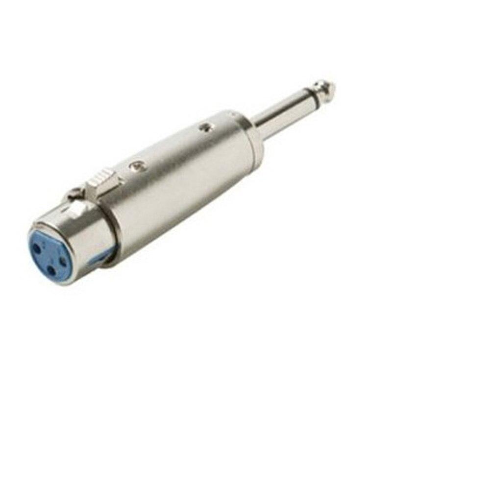 2015 Hot Silver-colored 3 Pin XLR Female To 1/4 6.35mm  Male Mono Jack Lead Adapter arri alexa mini amirai power link lemo fhj 2b 8 pins female to 4 pin neutrik xlr 4 pin female cable 1m