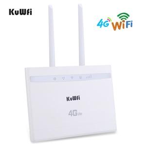 Image 2 - KuWfi 4G LTE CPE راوتر 150Mbps لاسلكي CPE راوتر 3G/4G سيم بطاقة موزع إنترنت واي فاي دعم 4G إلى شبكة سلكية تصل إلى 32 جهاز واي فاي