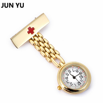 Gold sliver doctor pocket watches nurses watch fob hanging medical pocket watch relogio clock stainless steel.jpg 350x350