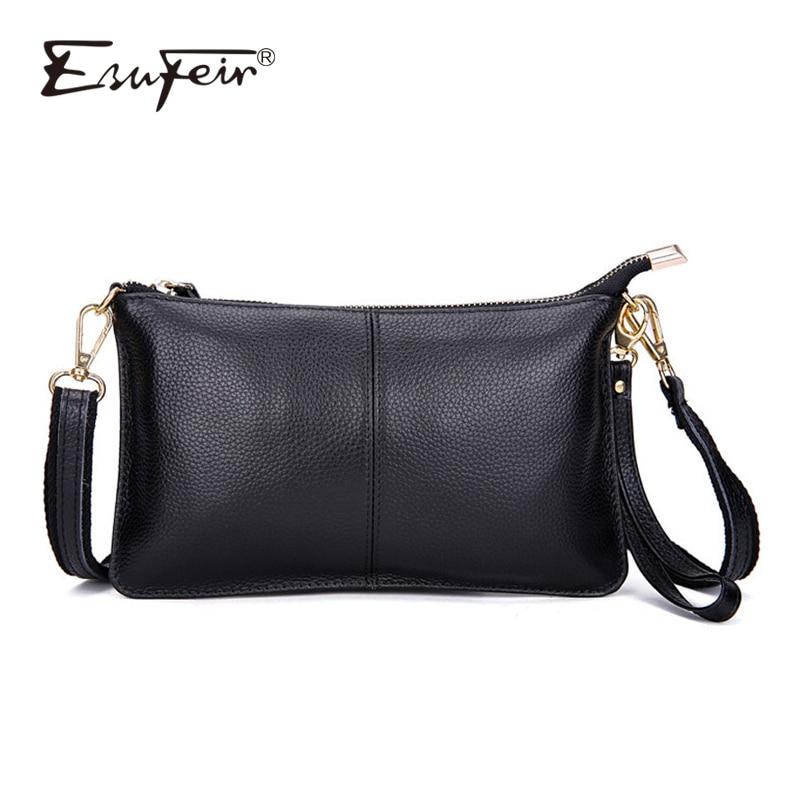 100% las mujeres de cuero genuino mensajero marca famosa bolsa de mujer de hombro bolsa bolso de embrague bolsa Crossbody bolsa monedero para las mujeres 2018