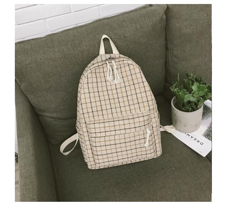 HTB13tMZaWSs3KVjSZPiq6AsiVXal 2 Pieces Japan style Plaid Style Women Backpack Pencil Case Student Girl School Bag Travel Shoulder Bag For Women 2019 Bagpack