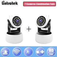 hot deal buy lintratek security ip camera wifi 720p wireless home surveillance ptz camera onvif 2.0 mini cctv wi-fi baby monitor