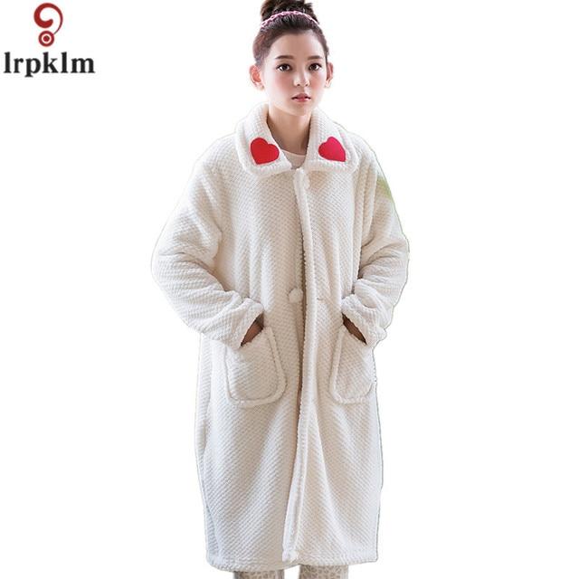 Women Robes European Palace Princess Sleep Gown Coat Winter Bathrobe ...