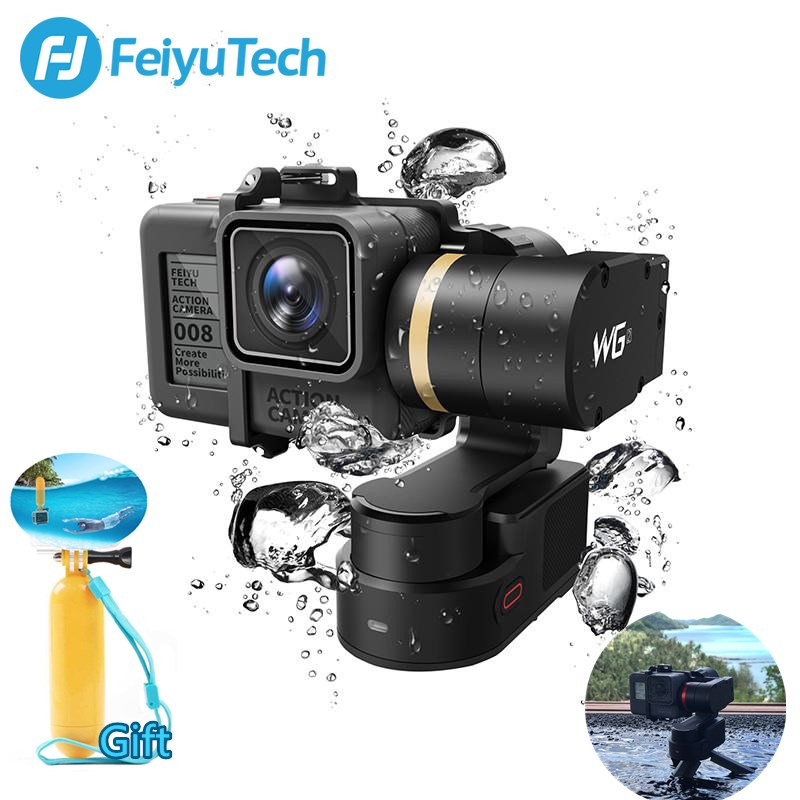 Original FeiyuTech Feiyu WG2 Wearable Mountable 3-axis Waterproof Gimbal Stabilizer for GoPro 6 4 5 Session YI 4K SJCAM AEE мыльные пузыри 1toy winx колба в термоплёнке 120 мл т58610