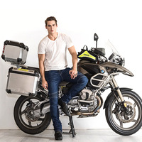 Motorcycle pants 2017 NEW fashion Rock Biker Original Men Slim Jeans skinny ripped jeans homme.