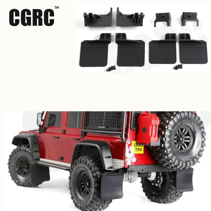 1 Set 4pcs Rubber Front And Rear Fenders Modified Upgrade Accessories For 1/10 Rc Crawler Car Traxxas Trx-4 Trx4 D110 metal front bumper for 1 10 traxxas trx4 d110 rc crawler car part