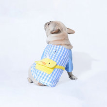 Dog Clothes for Small Dogs Plaid Sweater French Bulldog Chihuahua T-shirt Spring Pet Clothing Puppy Jacket Pug Costume