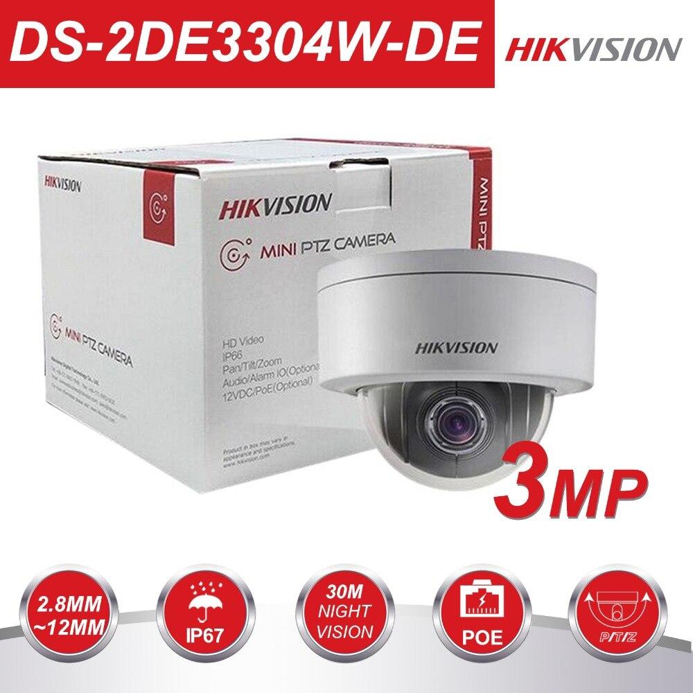 D'origine Hikvision PTZ IP Caméra DS-2DE3304W-DE 3MP Réseau Mini Caméra Dôme 4X Optique Zoom EZVIZ Soutien avec DS-1273ZJ-PT6