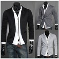 Free Shipping Hot Selling Antumn Fashion Plus Size Mens Grey Suit Jackets Male Black One Button Groomsmen Suits Sales