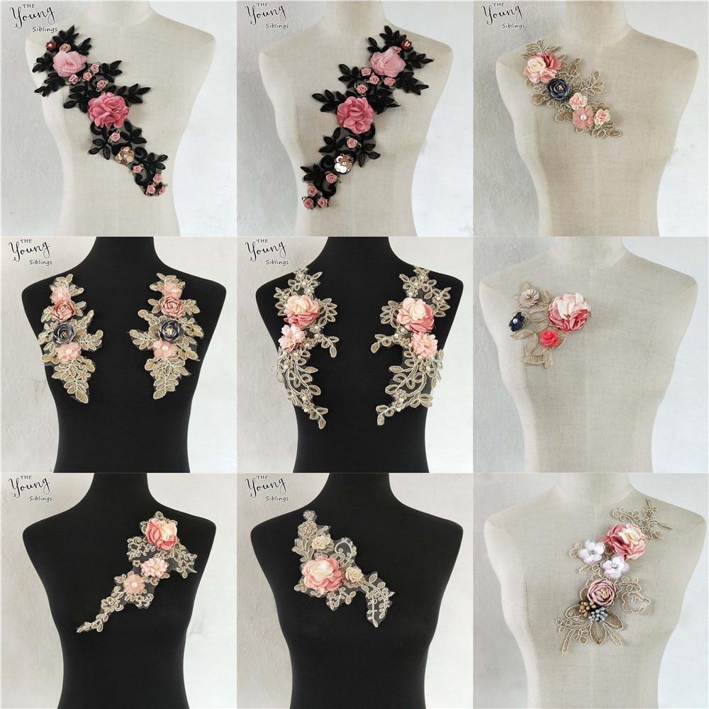 Diy Wedding Gowns: New Lace Applique Craft Collar DIY Wedding Dress Supply
