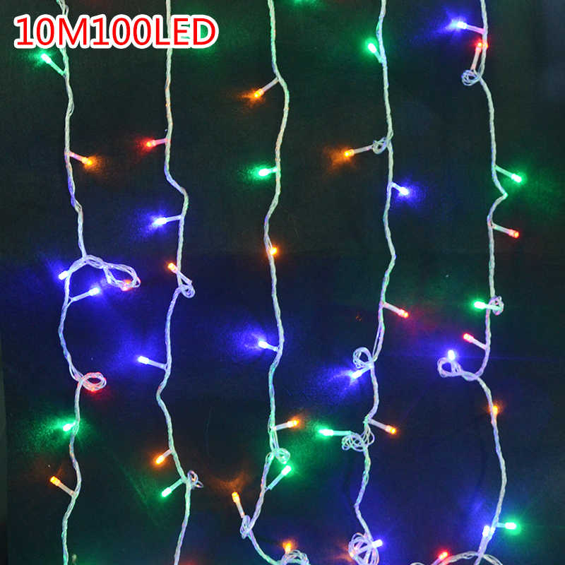 Christmas String Lights.Lowest Price Led String Light 100 Led 10m Christmas Wedding Party Decoration Lights Ac 110v 220v Outdoor Waterproof Led Lamp