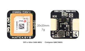 Image 1 - Matek أنظمة M8Q 5883 Ublox SAM M8Q لتحديد المواقع و QMC5883L وحدة البوصلة ل RC مولتيروتور FPV سباق بدون طيار طويلة المدى
