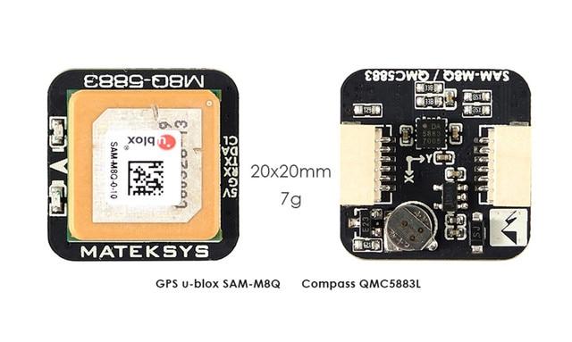 Matek أنظمة M8Q 5883 Ublox SAM M8Q لتحديد المواقع و QMC5883L وحدة البوصلة ل RC مولتيروتور FPV سباق بدون طيار طويلة المدى