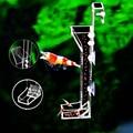 Acrílico aquário alimentador tubo peixe camarão alimentos tubo de alimentação grânulos mini bit dieta suprimentos