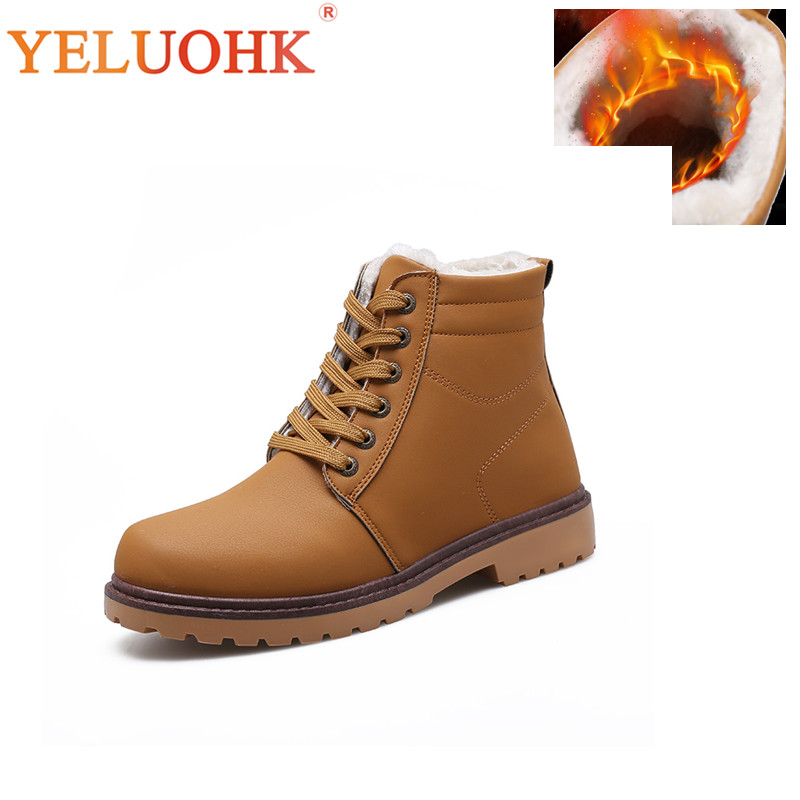 Men Boots Plush Warm Men Shoes Winter Pu Leather Winter Boots Men Winter Shoes men boots plush warm men shoes winter pu leather winter boots men winter shoes