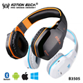 TOP!15 Free shipping wireless headset 2-in-1 bluetooth and 3.5mm cable headphones B3505 for audio call music movie gaming