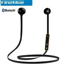 Original fineblue mate7 imanes estéreo auriculares deportivos auricular inalámbrico bluetooth con micrófono para iphone 7 samsung nota 7 xiaomi