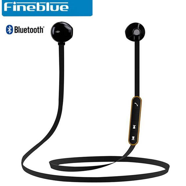 Original fineblue mate7 ímãs stereo sports sem fio bluetooth headset com microfone fones de ouvido para iphone 7 para xiaomi redmi 4 pro