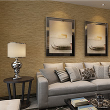 Southeast Asia style straw wallpaper rolls for living room wrinkled flaxen   light-grey wall 1fe1e2730278