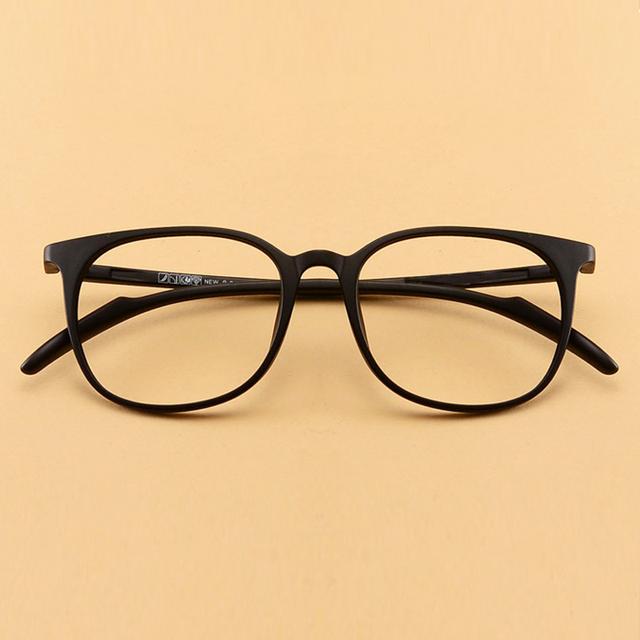 Gafas de miopía tr90 ultra-ligero gafas miopía marco de la vendimia caja grande miopía gafas de cristal liso, gafas de Prescripción