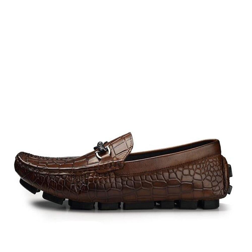 Mocasines para hombre Sipriks mocasines de cuero Tan deslizamiento en los zapatos de conducción Casual de moda jefe zapatillas de fumar zapatos italianos importados-in Zapatos formales from zapatos    3